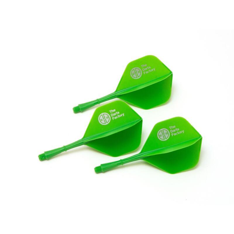 The Darts Factory - One Piece Shaft Flight - Green