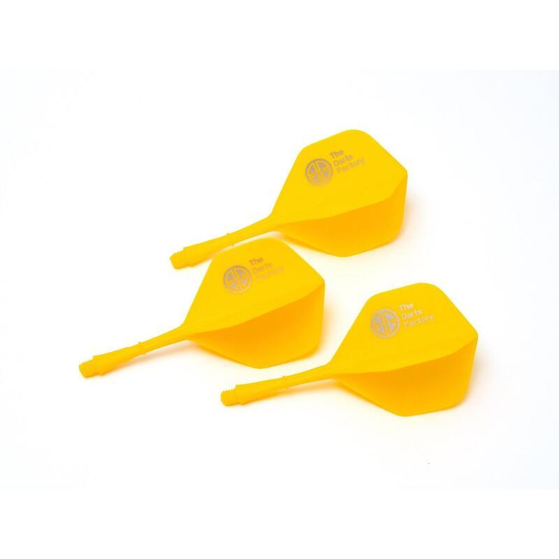 The Darts Factory - One Piece Shaft Flight - Yellow