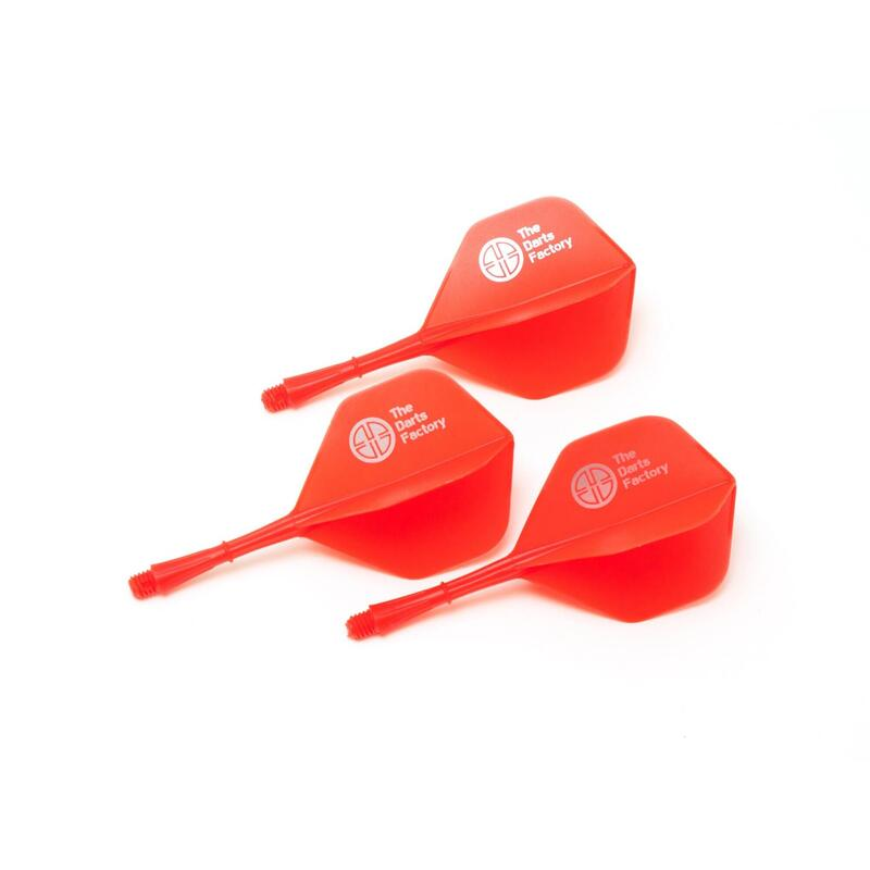 The Darts Factory - One Piece Shaft Flight - Red
