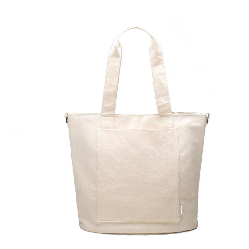 Zoey Tote-52cm-Sac à main de voyage ou de sport-Coton BIOLOGIQUE(Natural Cotton)