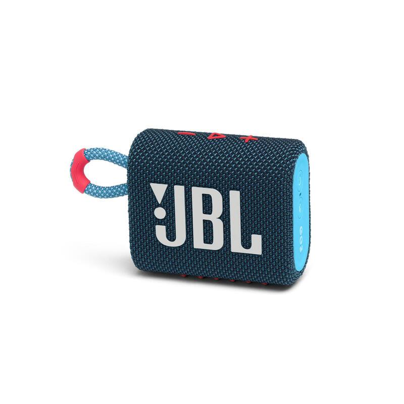 JBL Go 3 迷你防水藍牙喇叭 - 藍珊瑚紅色