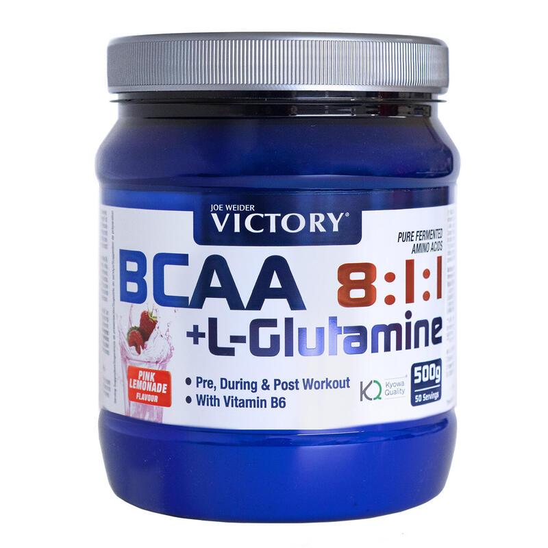 Victory BCAA 8:1:1 + Glutamina 500g Sabor Pink Lemonade