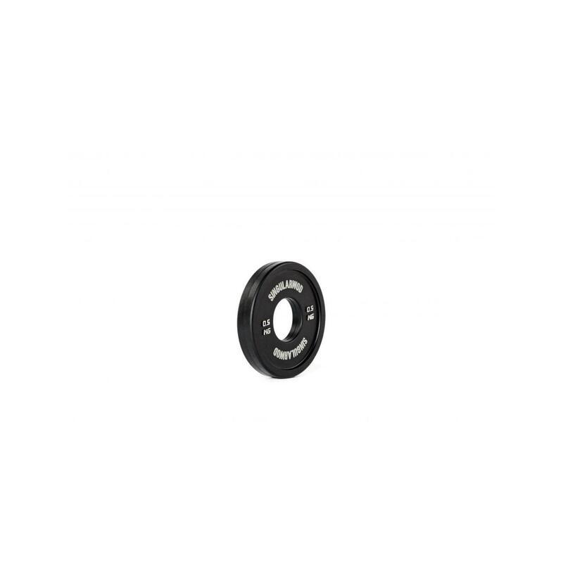 DISCO FRACCIONAL TRAINING DE 0,5 KG NEGRO