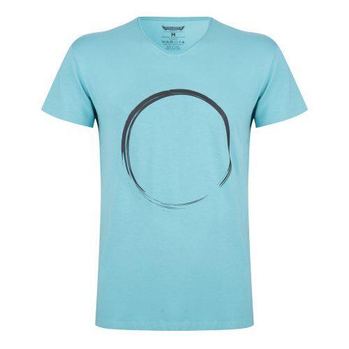 T-shirt Moksha Zen - Col en V à la hanche, doux et confortable -  Sea Green