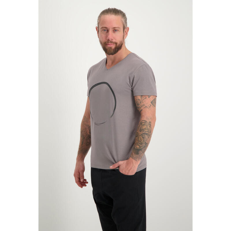 T-shirt Moksha Zen - Col en V à la hanche, doux et confortable -  Volcanic Glass