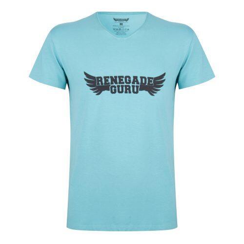 T-shirt Moksha - Col en V à la hanche, doux et confortable -Sea Green