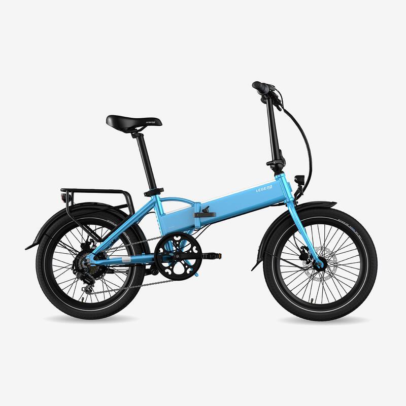 """Vélo pliant à assistance électrique Legend Monza 14Ah Bleu 20"""""""