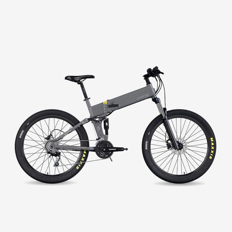 """Vélo VTT électrique pliant Legend Etna 14Ah Gris 27,5"""""""