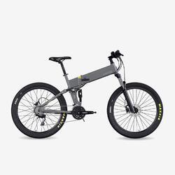 "Bicicletta MTB Elettrica Pieghevole Legend Etna 14Ah Grigia 27.5"""