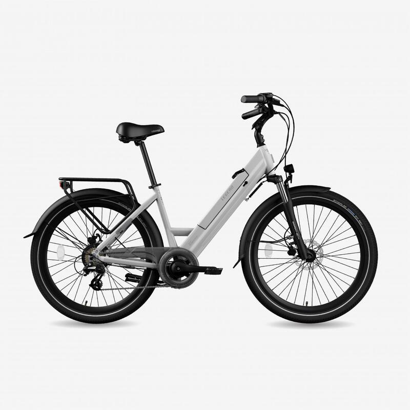 """Vélo de ville électrique Legend Milano 10.4Ah Blanc 26"""""""
