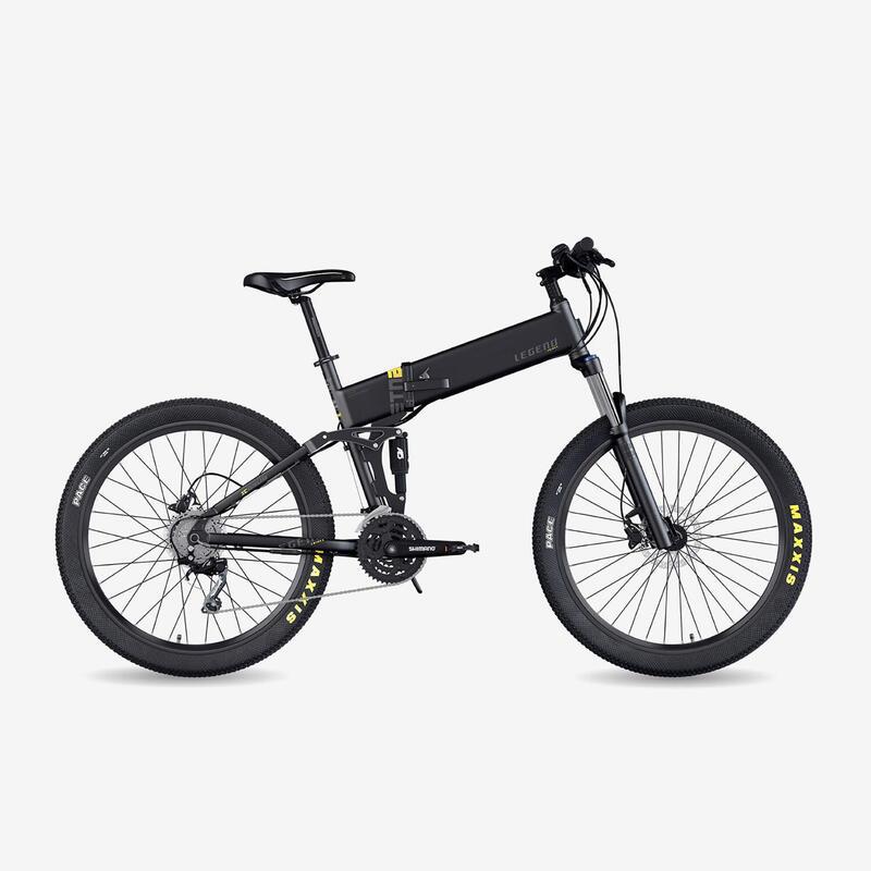 """Vélo VTT électrique pliant Legend Etna 14Ah Noir 27,5"""""""