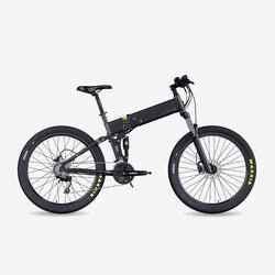 "Bicicletta MTB Elettrica Pieghevole Legend Etna 14Ah Nera 27.5"""
