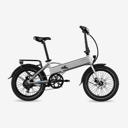 "Bicicletta Pieghevole Elettrica Legend Monza 10.4Ah Silver 20"""
