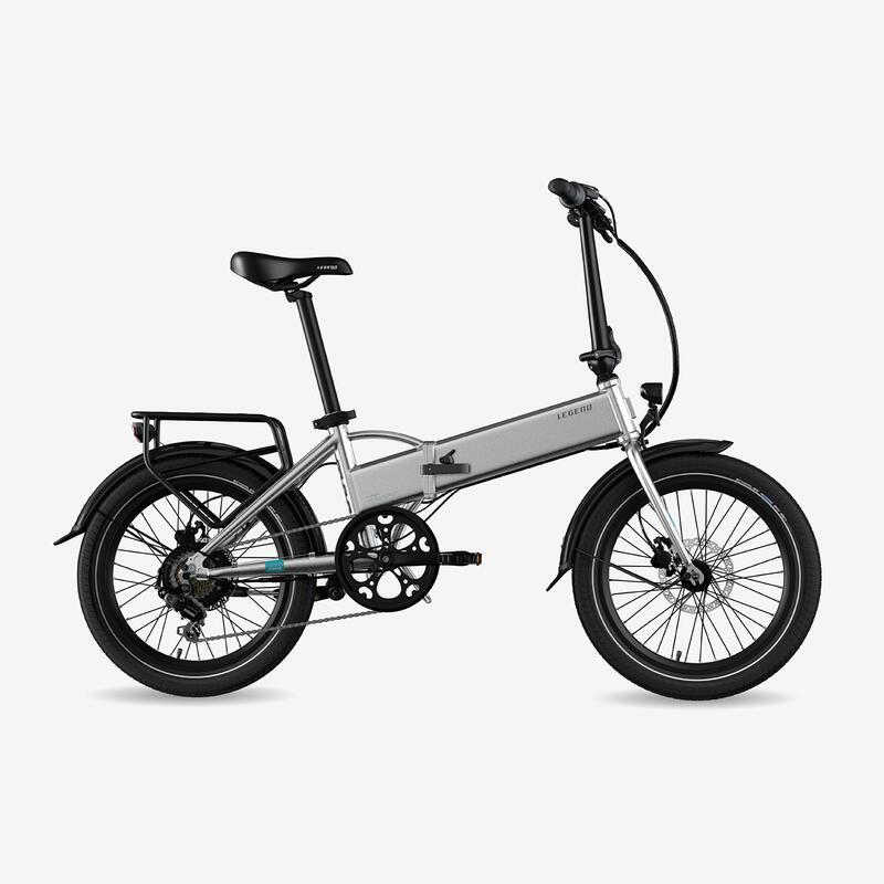 """Bicicleta eléctrica plegable Legend Monza 10.4Ah 20"""" Gris"""
