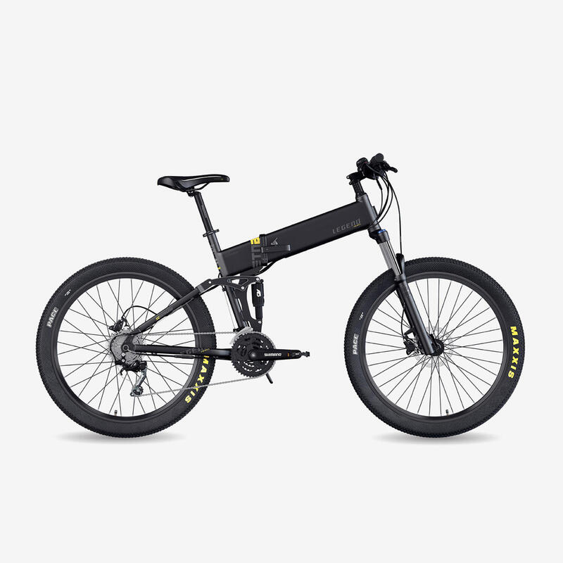 "Bicicleta eléctrica de montaña plegable Legend Etna 10.4Ah 27.5"" negro"