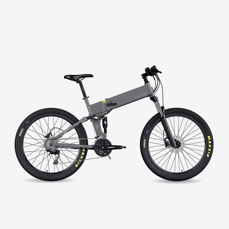 "Bicicleta eléctrica de montaña plegable Legend Etna 10.4Ah 27.5"" gris"