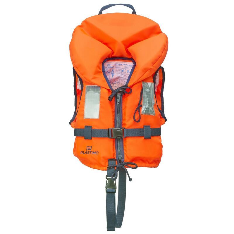 Gilet de sauvetage bébé Typhon 100 newtons Orange - 3 à 10 kg