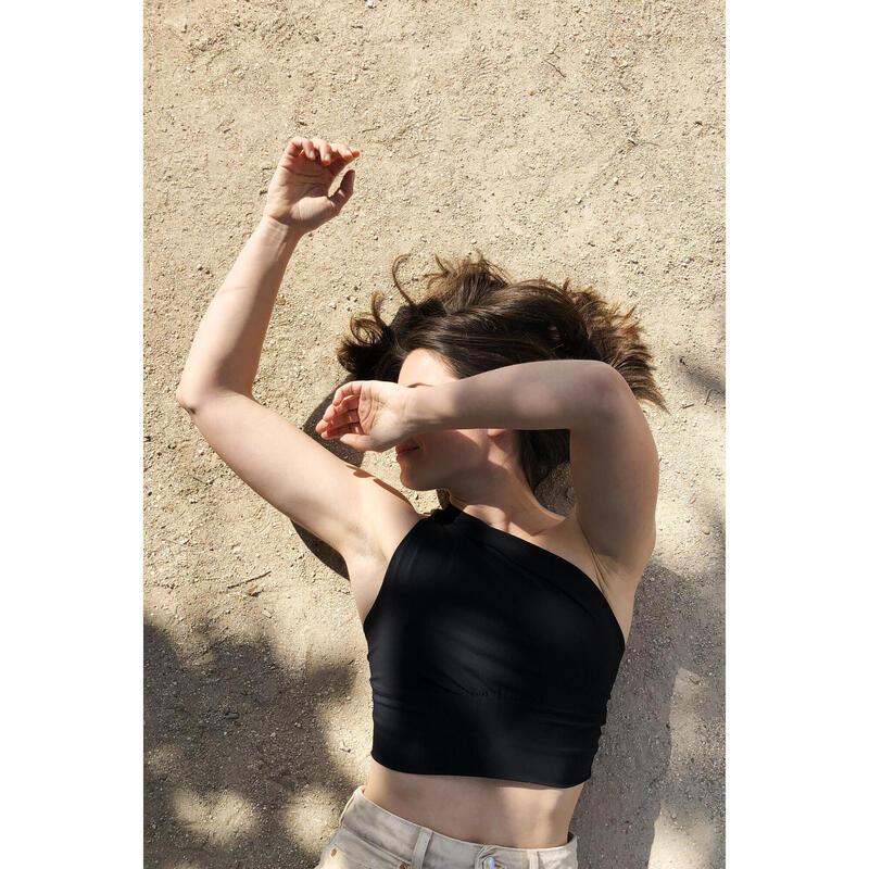 Top Une Epaule de Yoga pour Femme