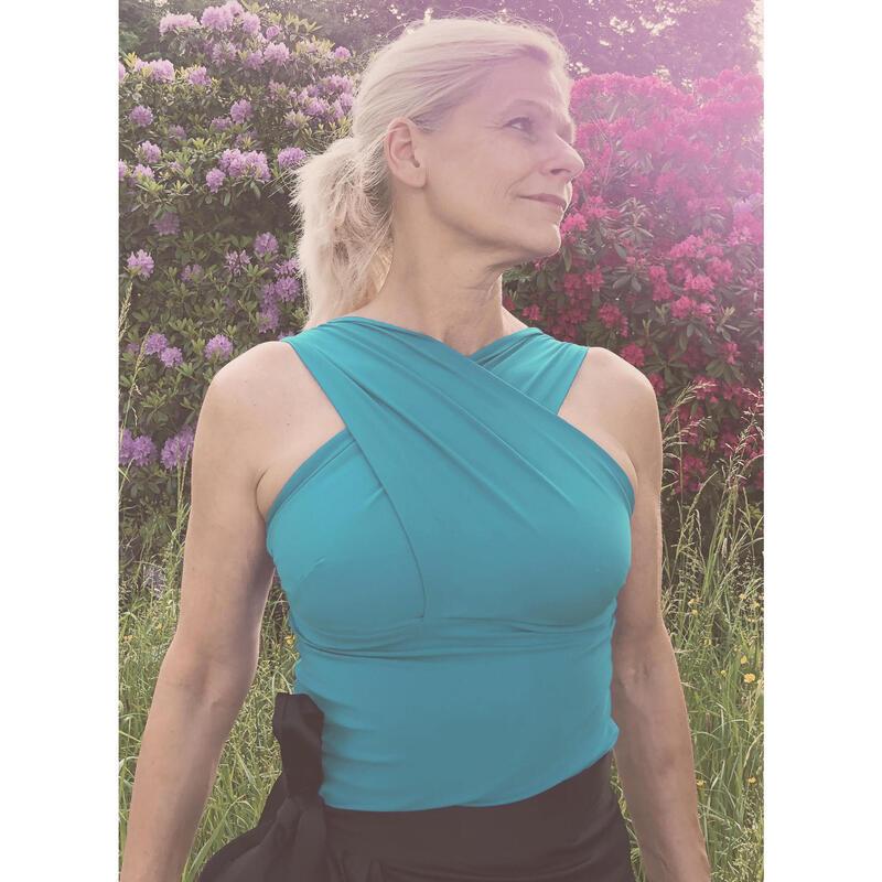 Long Top Drapé de Yoga pour Femme