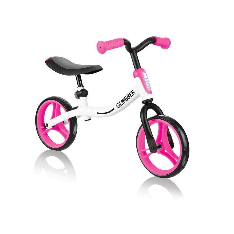 Globber Go Bike Balance Bike - White/Neon Pink