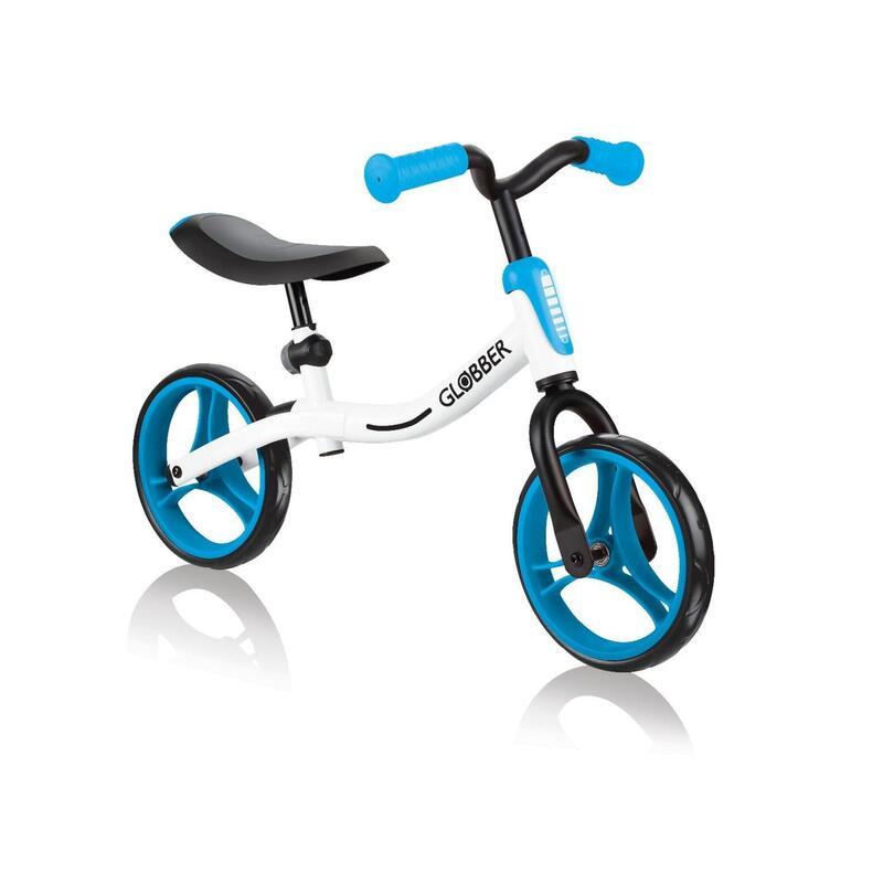 Globber Go Bike Balance Bike - White/Sky Blue