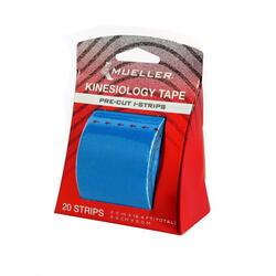 Kinesiology Tape - Pre-Cut I-Strips, Blue (1 roll)