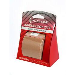 Kinesiology Tape - Pre-Cut I-Strips, Beige (1 roll)
