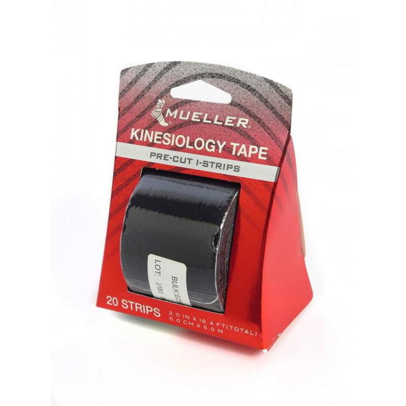 Kinesiology Tape - Pre-Cut I-Strips, Black (1 roll)