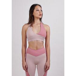 Self Love Pink Halter Sports Bra