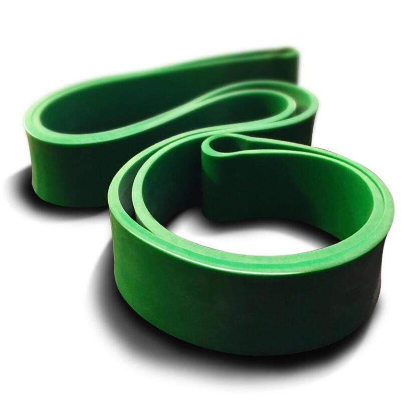 Banda circular de látex natural verde para musculación