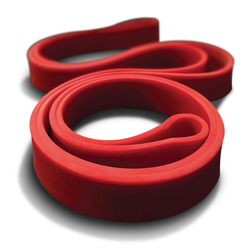 Banda circular de látex natural roja para musculación