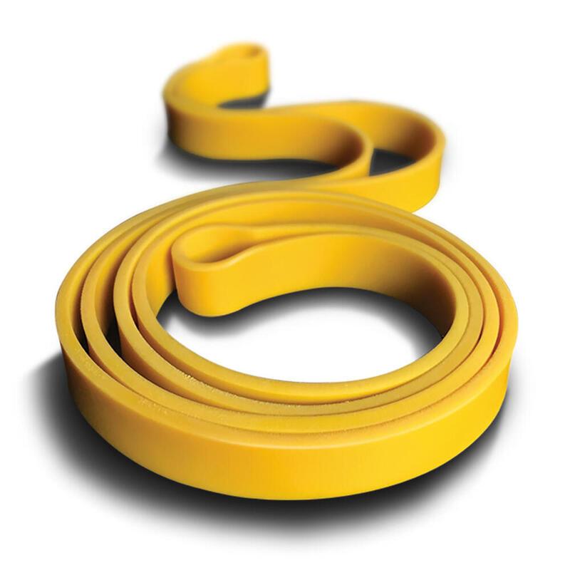 Banda circular de látex natural amarilla para musculación