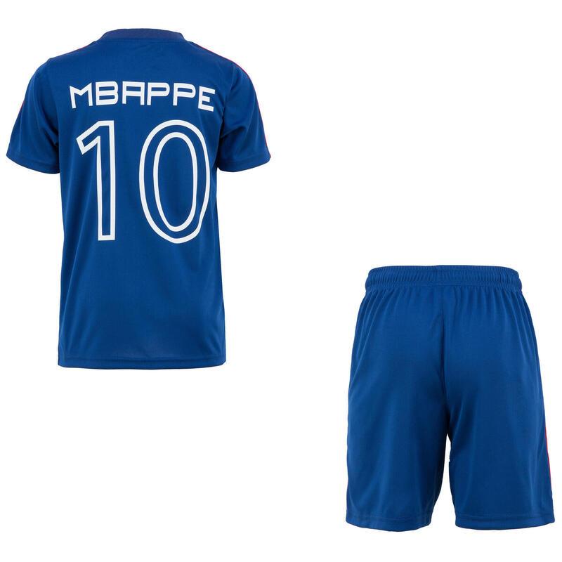 Ensemble Maillot Short FFF Kylian Mbappé Equipe de France de Football Enfant
