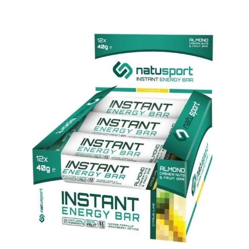 Natusport Instant Energy Bar Citrus Lime