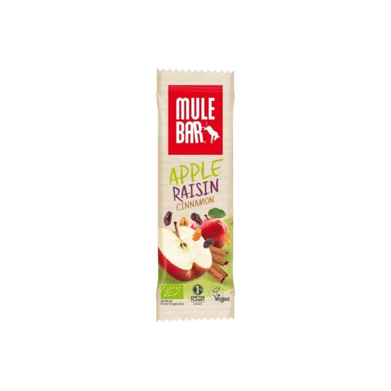 Barre énergétique Bio & Vegan 40g : Pomme - Cannelle - Raisins
