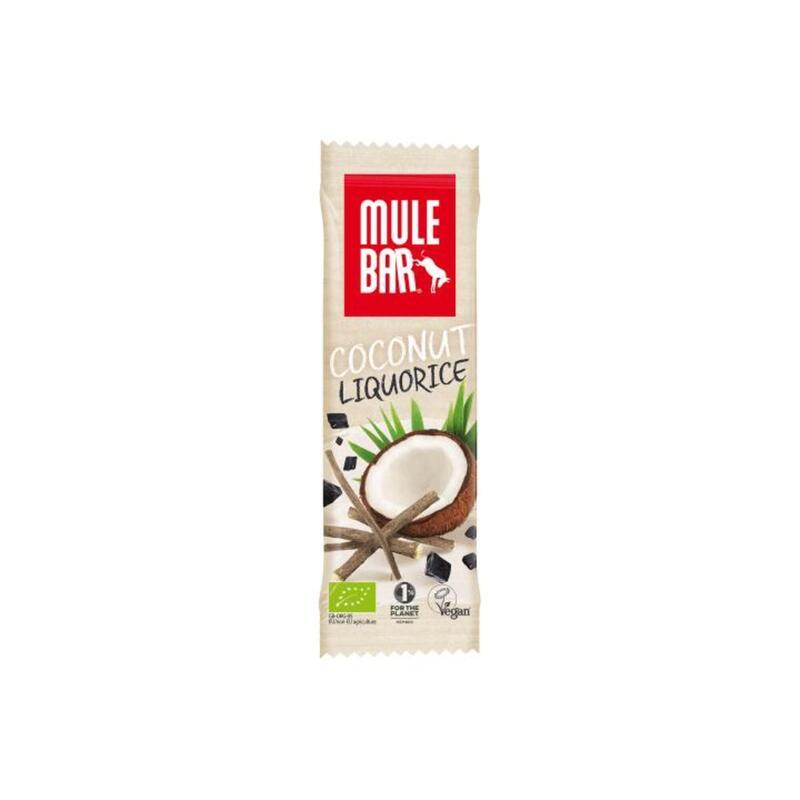 Barre énergétique Bio & Vegan 40g : Réglisse - Coco