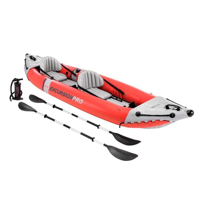 Kayak hinchable INTEX k2 excursion pro 2 remos + hinchador