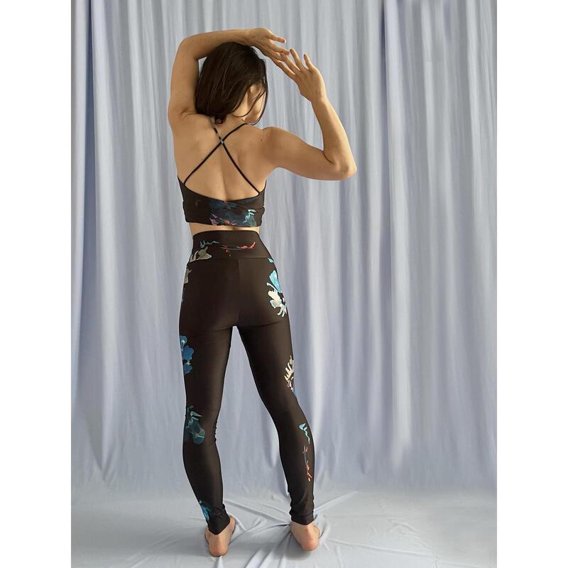 Legging de Yoga Femme Taille Haute Imprimé Fleur