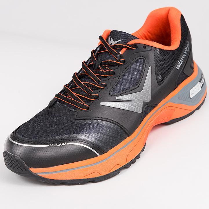 Chaussures de running homme Wizwedge Helium BZ Noir Orange