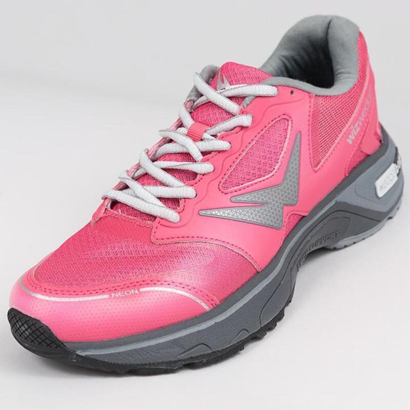 Chaussures de running femme Wizwedge Neon PCS Rose Gris