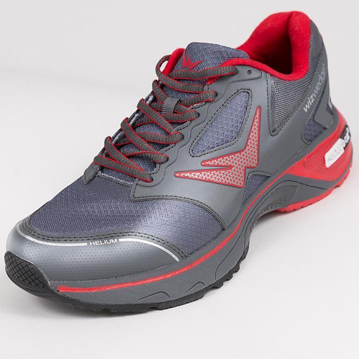 Chaussures de running homme Wizwedge Helium PCS Gris Rouge