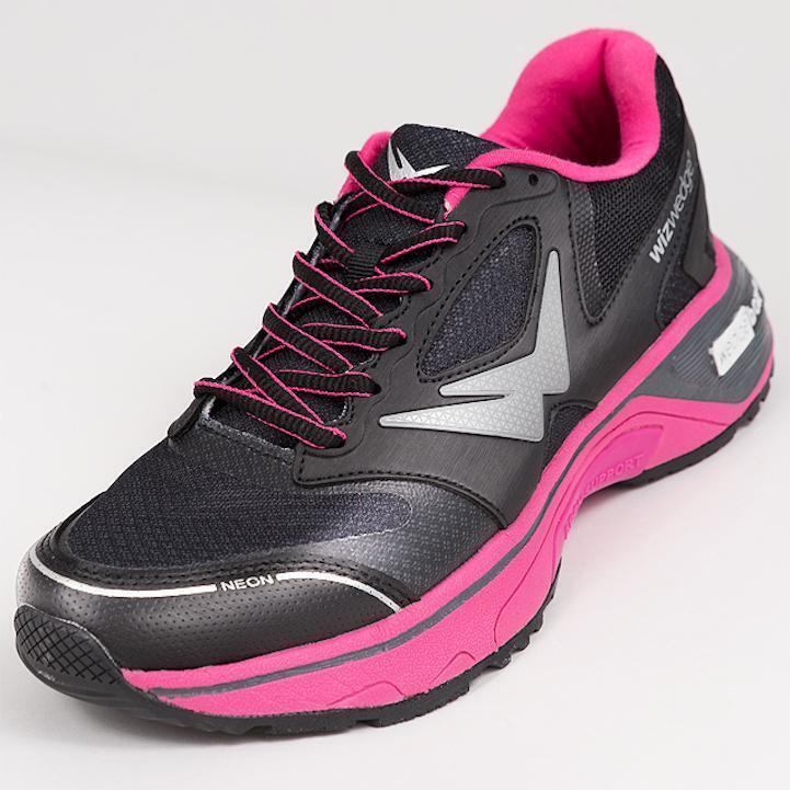 Chaussures de running femme Wizwedge Neon universelle Noir Fuschia