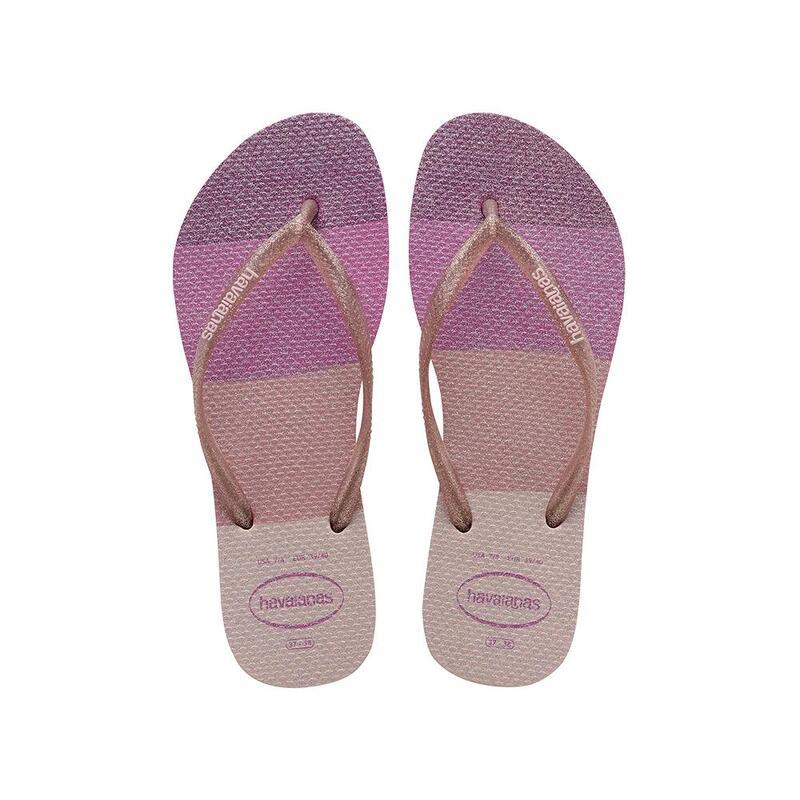 HAVAIANAS 女裝 SLIM PALETTE GLOW 人字拖鞋 - 粉紅色