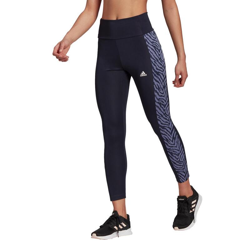 Collant 7/8 femme adidas High-Rise Sport Zebra
