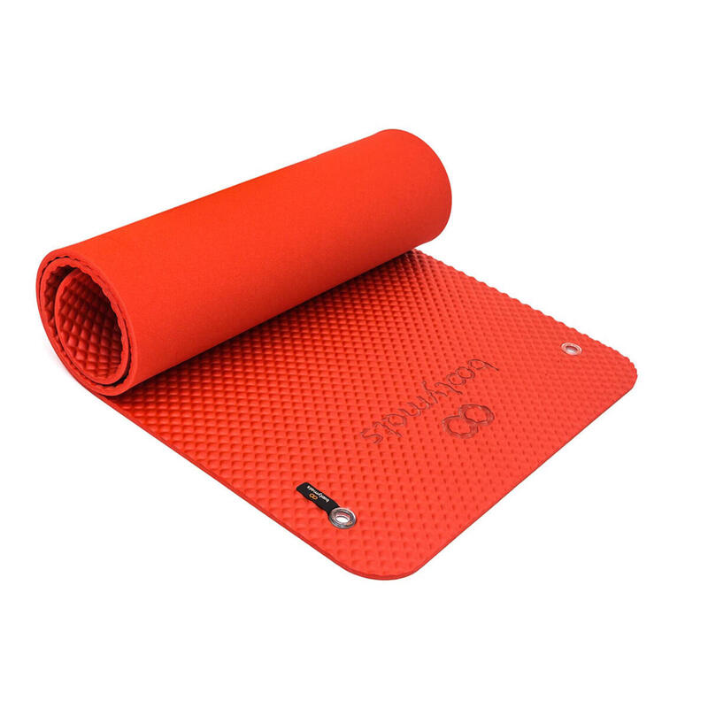 Esterilla de gran tamaño para ejercicios de Pilates de suelo. 180x60cm. Rojo