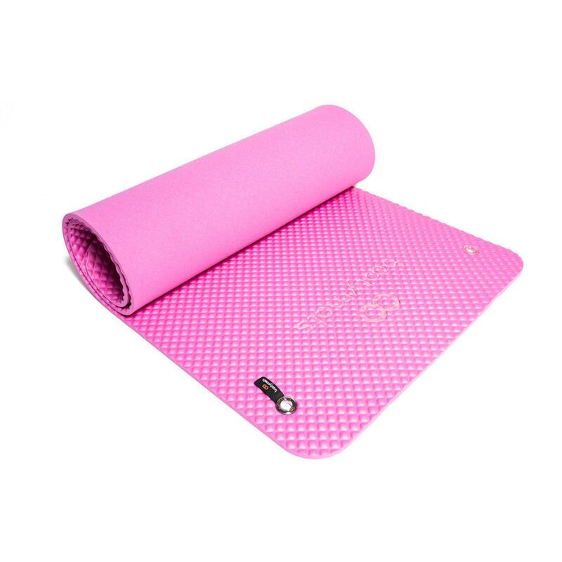 Esterilla de gran tamaño para ejercicios de Pilates de suelo. 180x60cm. Rosa