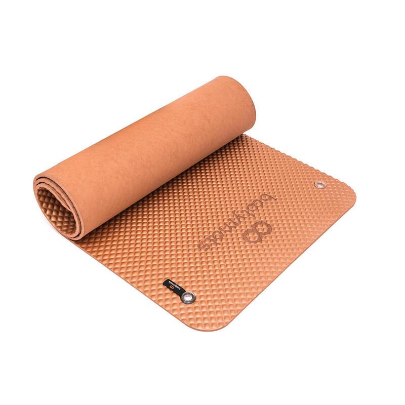Esterilla de gran tamaño para ejercicios de Pilates de suelo. 180x60cm. Bronze