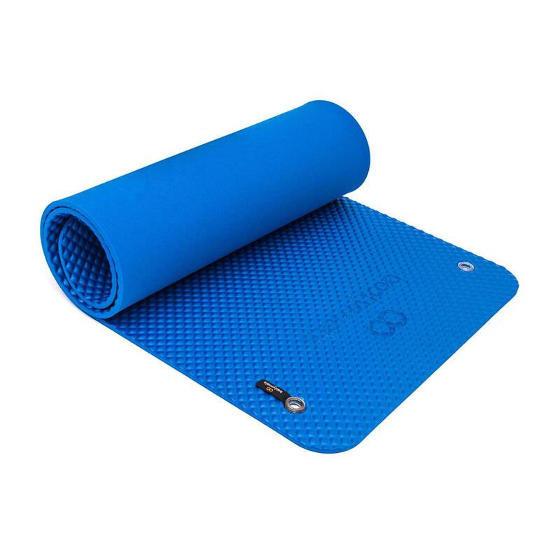 Esterilla multifunción para ejercicios de Fitness y Pilates. 160x60cm. Azul