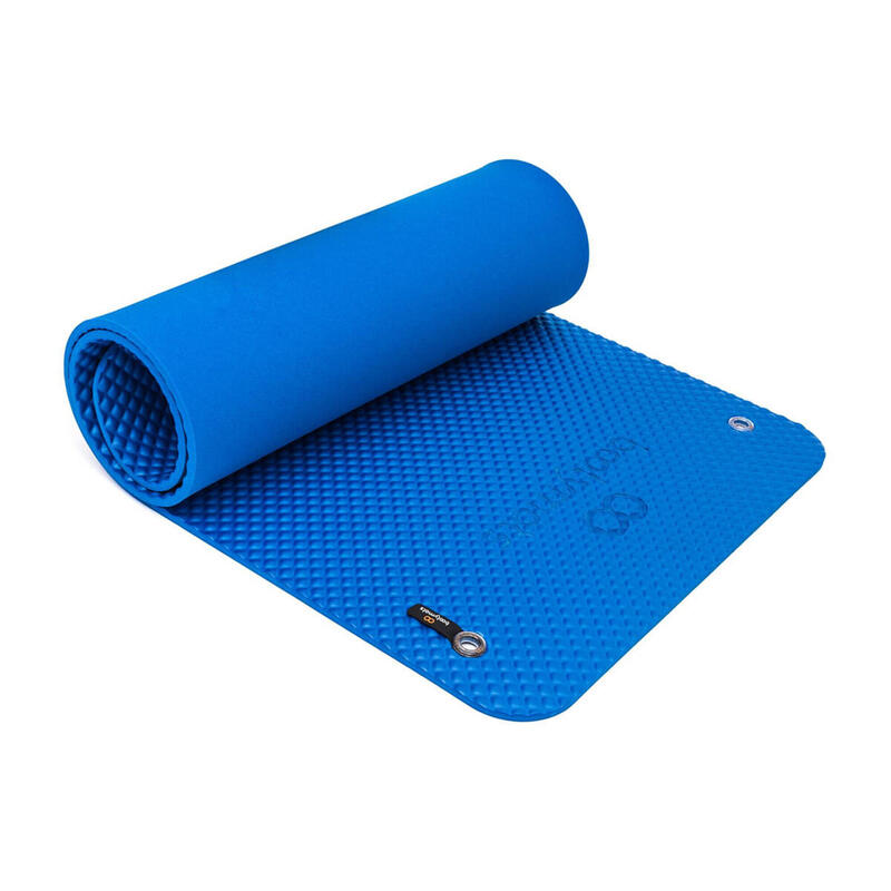 Esterilla de gran tamaño para ejercicios de Pilates de suelo. 180x60cm. Azul