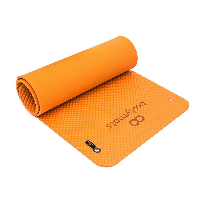 Esterilla de gran tamaño para ejercicios de Pilates de suelo. 180x60cm. Naranja